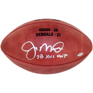 "Joe Montana Signed Super Bowl XVI Football w/""SB XVI MVP insc. & final score Engraved"