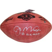 "Joe Montana Signed Super Bowl XIX Football w/ ""SB XIX MVP"" Insc."