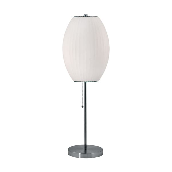 Elk Lighting Cigar Table Lamp In Satin Nickel And White