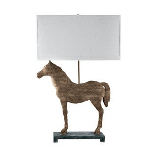 Elk Lighting Carved Horse Table Lamp