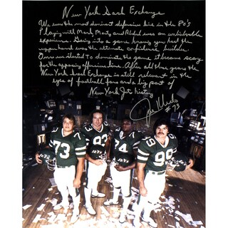 Joe Klecko Signed New York Jets Sack Exchange 16x20 Story Photo