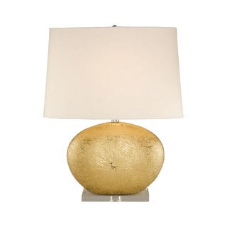 Elk Lighting Gold Oval Ceramic Table Lamp