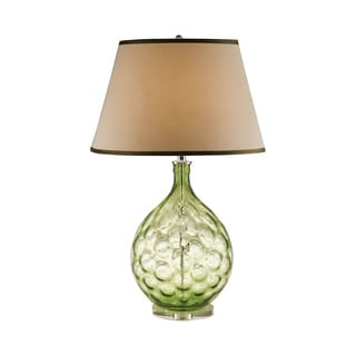 Elk Lighting Green Thumbprint Glass Table Lamp
