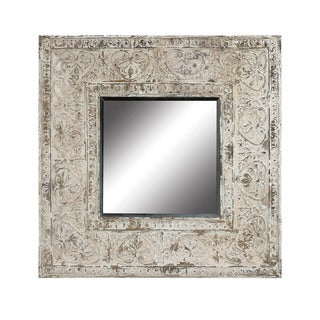 Guildmaster Embossed Metal Frame Mirror
