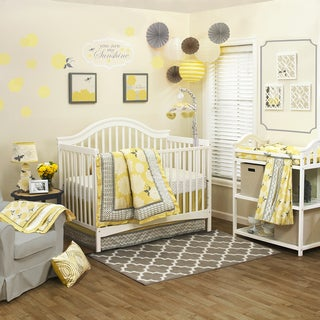 The Peanut Shell Girls' 'Stella' 4-piece Crib Bedding Set