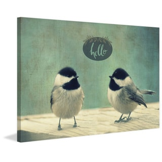 Marmont Hill - 'Hello Birds 2' by Robert Dickinson Painting Print on Canvas
