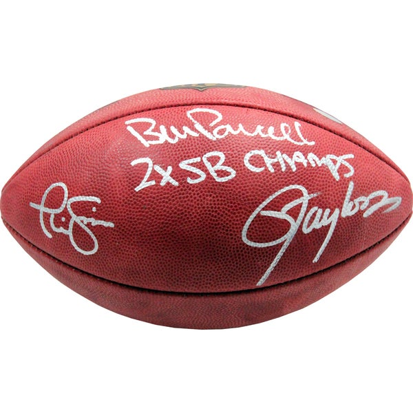 "Parcells/Taylor/Simms Triple Signed NFL Football w/ ""2X SB Champs"""