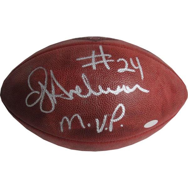 "OJ Anderson Super Bowl XXV Football w/ ""SB XXV MVP"" Insc."