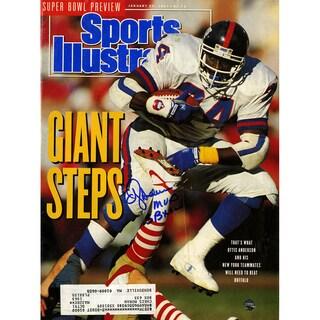 "OJ Anderson Signed 1/28/91 Sports Illustrated Magazine w/ ""SB XXL MVP"" Insc"