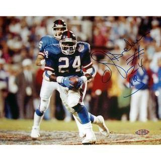 OJ Anderson Rushing Ball Giants Blue Jersey Horizontal 8x10 Photo
