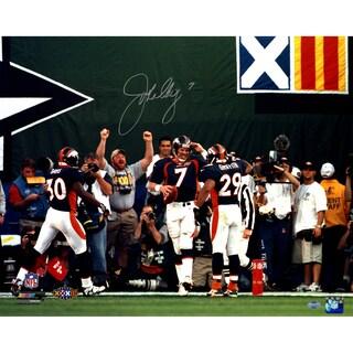 John Elway Signed horizontal mile high salute 16x20 Photo