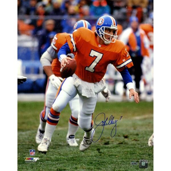 John Elway Denver Broncos Super Bowl Signed 16x20 Photo