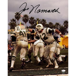 Joe Namath Signed Handoff 16x20 Photo