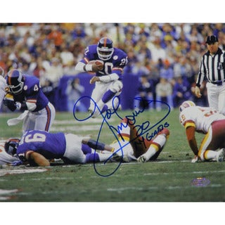 "Joe Morris Leap Thru Middle Horizontal 8x10 Photo w/ ""NY Giants"" Insc."