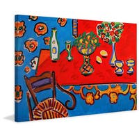 Marmont Hill - 'Red Table' by Michael Woodward Painting Print on Canvas - Multi-color