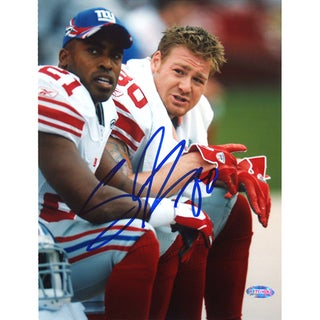 Jeremy Shockey on the Bench with Tiki 8x10 Photo