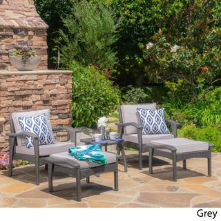 Honolulu Outdoor 5-piece Wicker Seating Set with Cushions by Christopher Knight Home (3 options available)