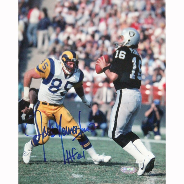 Jack Youngblood Signed 8x10 Photo w/ HOF Insc.