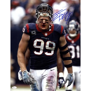 J.J. Watt Signed Houston Texans Bloody 16x20 Photo
