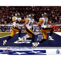 Hines Ward Signed Super Bowl 43 Triple Exposure 16x20 Photo