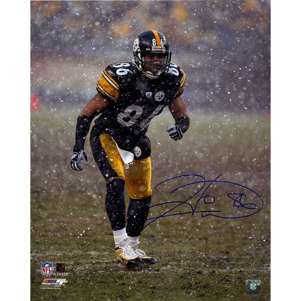 Hines Ward Pittsburgh Steelers Signed Snow 16x20 Photo