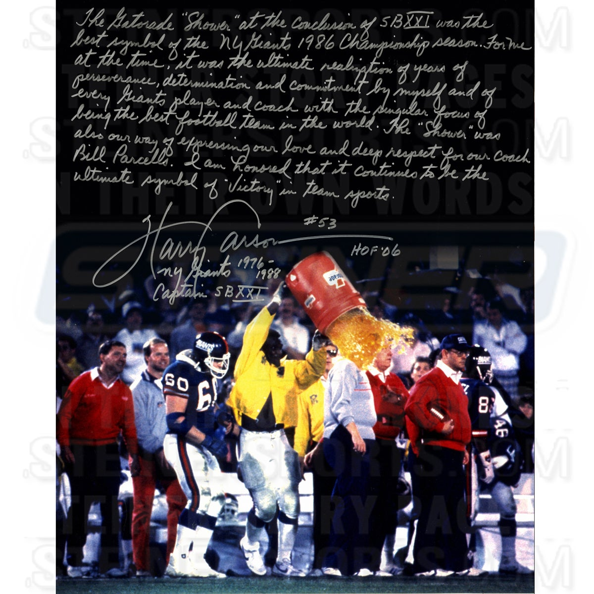 e2ee8410b Shop Harry Carson Gatorade Signed 16x20 Story Photo - Free Shipping Today -  Overstock - 11199735