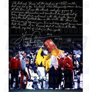 Harry Carson Gatorade Signed 16x20 Story Photo