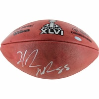 Hakeem Nicks Signed Super Bowl XLVI Football