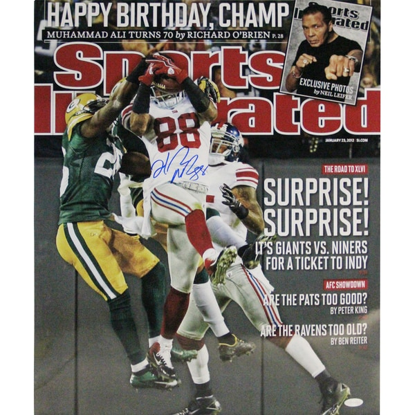 "Hakeem Nicks Signed ""Surprise! Surprise!"" Sports Illustrated Cover 16x20 Photo"