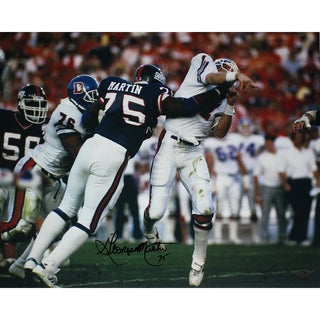 George Martin SB XXI Hit on Elway Horizontal 16x20 Photo