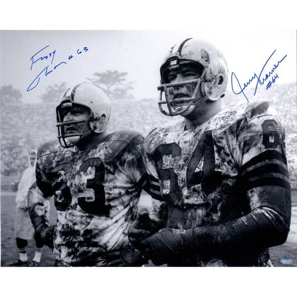 Fuzzy Thurston/Jerry Kramer Dual Signed 16x20 Horizontal B/W Photo