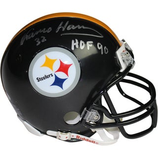 Franco Harris Signed Mini Helmet W/ HOF 90 Inscription