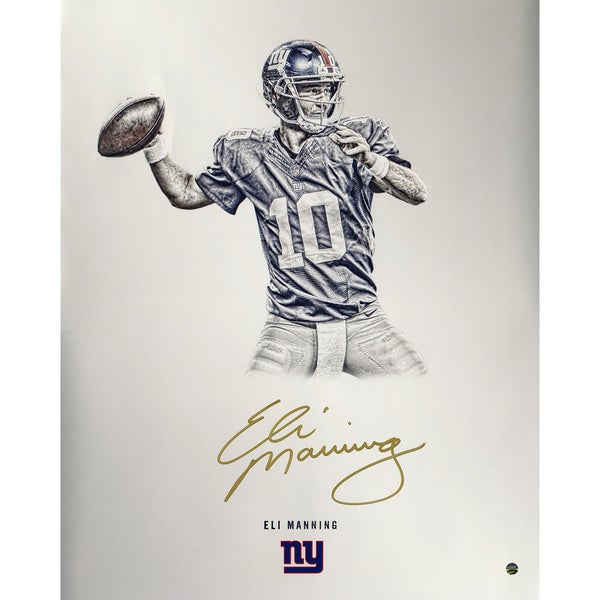 Eli Manning Signed Steiner Platinum Collection 16x20 Photo