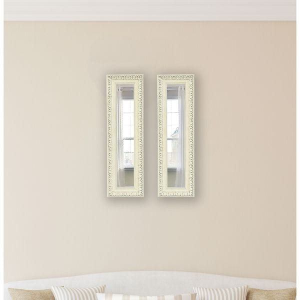 American Made French Victorian White Mirror Panel - Antique White