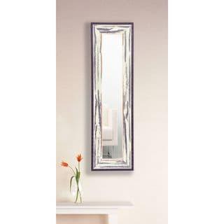 American Made Rayne Rustic Seaside Mirror Panel - Black/White