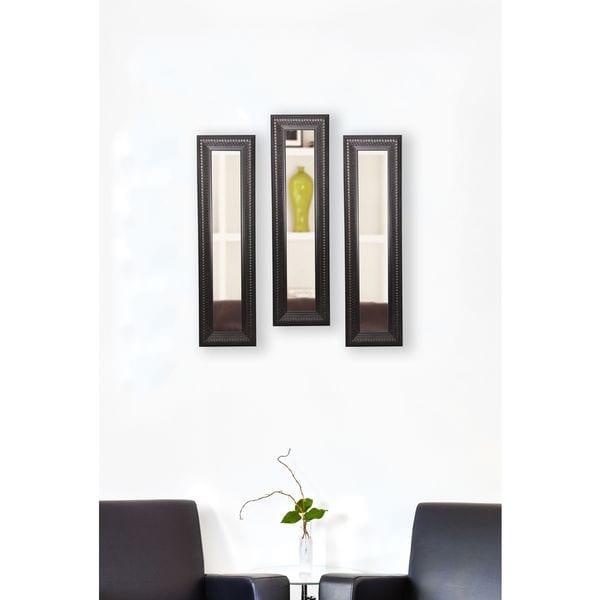American Made Rayne Royal Curve Mirror Panel - Dark Mahogany