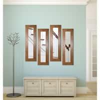 American Made Rustic Light Walnut Mirror Panel