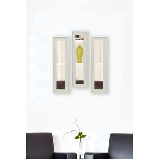American Made Rayne Vintage White Mirror Panel