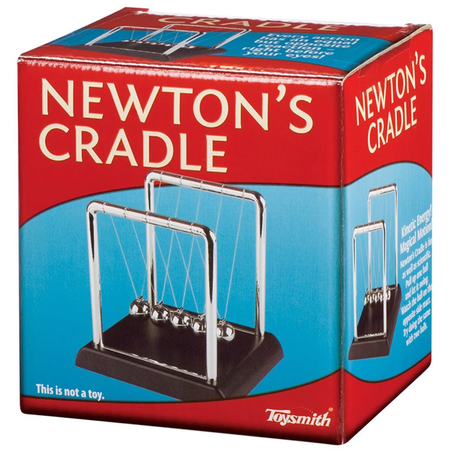 Toysmith Newton's Cradle Physics Toy (G085761318830), Bro...