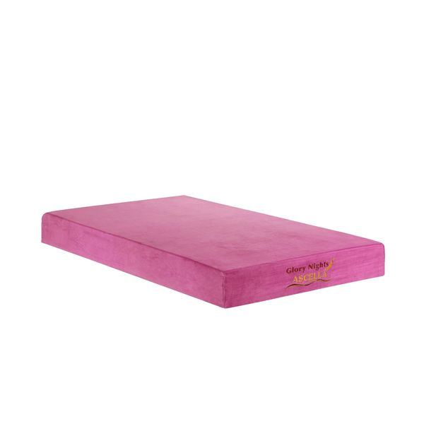 Ascella Pink 8 inch Full size Memory Foam Mattress Free