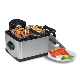 4-Quart Dual Basket Deep Fryer