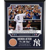 Derek Jeter 14 Time All Star 8x10 Plaque with Dirt from Target Field