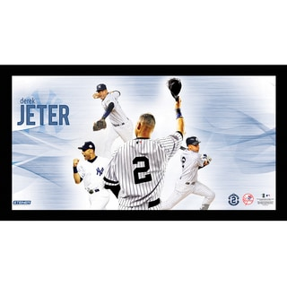 Derek Jeter #2 Tipping Cap Multi-Exposure Framed 10x20 7331 Style