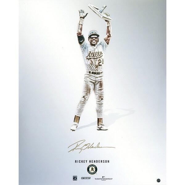 Rickey Henderson Signed Steiner Platinum Collection 16x20 Photo
