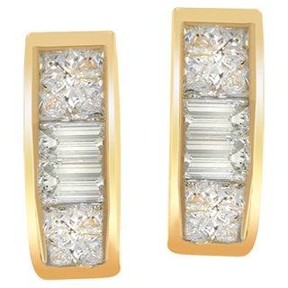 14k Yellow Gold 1/4ct TDW Diamond Earrings (H-I, SI1-SI2)