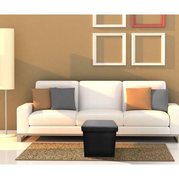 Amazing Shop Sorbus Foldable Storage Ottoman Contemporary Faux Cjindustries Chair Design For Home Cjindustriesco