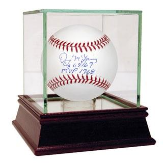 Denny McLain Signed MLB Baseball w/ CY 68/69, MVP 1968 Insc.