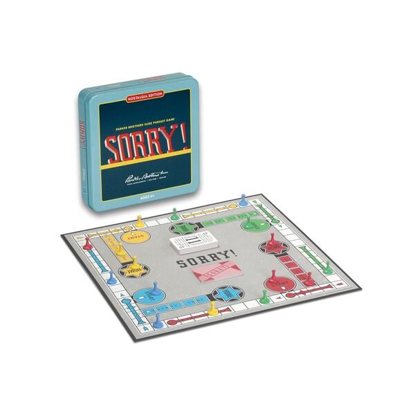 Sorry Board Game Nostalgia Edition Game Tin