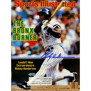 Rickey Henderson Signed 7/28/86 Sports Illustrated Magazine