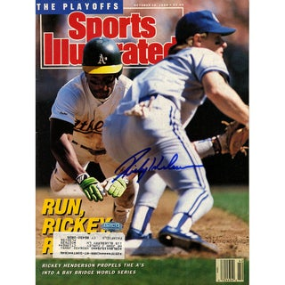 Rickey Henderson Signed 10/16/89 Sports Illustrated Magazine